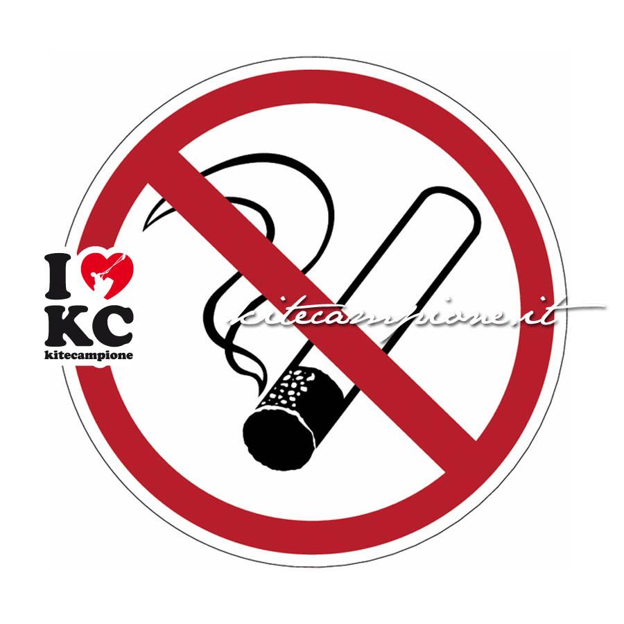 vietato fumare in area kite
